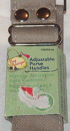 "Khaki Cotton Adjustable Purse Bag Tote Handles (2) Length 21"" - 38"""
