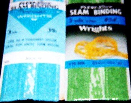 Wrights Aqua 100% Nylon Flexi-Lace Seam Binding  3yds