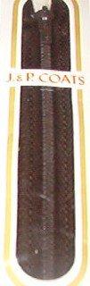 "11"" J&P Coats Cloister (Dark) Brown Metal Trouser Pants Zipper"