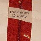 "22"" J&P Coats Brick Rust All Purpose Polyester Zipper"