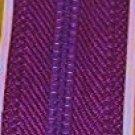"22"" Coats Purple All Purpose Polyester Zipper"
