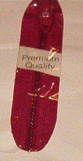 "22"" J&P Coats Red Flex Knit Polyester Knit Tape Zipper"