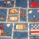 "Old Fashioned Country School Days Fabric  28""w x 1 yd +  5"""