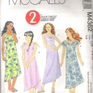 McCalls 4362 (2004)  Pattern Girls Lined Bias Dresses  Cut to Size 7