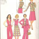 Simplicity 7986 (1977) Vintage Pattern Juniors Vest Pants Skirt Jacket  Size 9-11  Part Cut 11