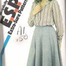 Simplicity 5717 (1982) Vintage Pattern Blouse Front Wrap Skirt  Size 12-16  Uncut