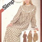 Simplicity 9783 (1980) Misses Pattern Nightgown, Pajamas and Robe  Size 10  Uncut