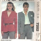 McCalls 7282 (1980) Pattern Cardigan Jacket  Size 10  Cut