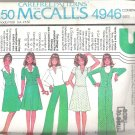McCalls 4946 (1976)  Vintage Pattern Top Skirt Jacket Wide Leg Pants Vest  Size 6-10  Uncut