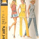 McCalls 2417 (1970) Vintage Pattern Junior Tops Pants Shorts  Size 8  Uncut