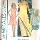McCalls 5092 (1976) Vintage Pattern  Pull-over Dress Top  Size 10-12  Uncut