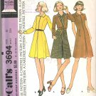 McCalls 3694 (1973) Pattern Misses and Junior Dress Tie Waist Jacket  Size 10  Uncut
