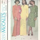 McCalls 4359 (1974) Pattern Pull-over Dress Top Wide Leg Pants  Size10  Partial Cut