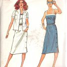 Butterick 3038 Pattern Side Button Dress Shoulder Straps Shirt Jacket  Size 10 Uncut
