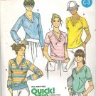 Butterick 6106 Pattern Gathered V-Neck T-Shirt Drawstring or Band Waist Size 10 Cut