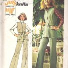 Simplicity 5858 (1973) Vintage Pattern Jiffy Knit Vest and Pants Size 10 Uncut