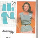 Simplicity 9554 (1980) Vintage Pattern Pullover Square Neck Dress Top Size 10 Cut