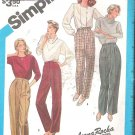 Simplicity 6433 (1984) Pattern Fuss Free Fit Pants Trousers Leg Variations  Size 12 Part Cut