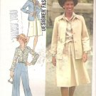Simplicity 7373 (1976) Vintage Pattern Pants Skirt Tie Belt Shirt Jacket Size 10 Part Cut