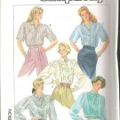 Simplicity 7854 (1986) Pattern Blouses Pleated to Yoke  Size 10 Uncut