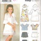 Simplicity 5689 (2003) Childs Girls Dress Top Shorts Skirt Hat 2-6X Part Cut to 6