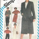 Simplicity 6075 (1983) Vintage Pattern Pants Wrap Skirt Pullover Blouse Lined Jacket Size 10 Uncut