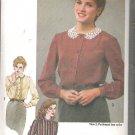 Simplicity 9719 (1980) Pattern Button Front Blouse Tucks Pleats Cuffs Size 12 Cut