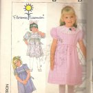 Simplicity 7930 (1986) Pattern Childs Girls Dress Sleeve Collar Variations Size 3 Part Cut