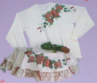Glitzy Shirts Roses Iron-On Applique Kit