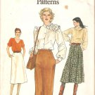 7444 Vogue Very Easy Pattern Slim Straight Skirt A-Line Skirt Flared Skirt Size 8 Uncut