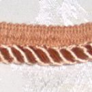 "Peach Small Twist Home Decor Trim 1"" x 3 1/2 yds (+ 1"")"