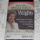 "Wrights Black Single Fold Bias Tape 1/2"" x 4 yds"
