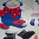 Daisy Kingdom Sammy Snowman Holiday Christmas Cut & Sew  Door Panel Fabric