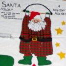 Swingin' Santa Christmas Holder Fabric Cut and Sew Panel