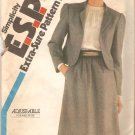 Simplicity 5693 (1982) Skirt Lined Jacket Pattern Adjustable for Petite Size 10-12-14  Uncut
