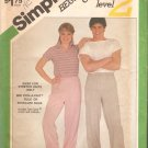 Simplicity 6103 (1983) Stretch Knit Unisex Pull-On Pants Pattern Size Large  Uncut