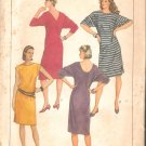 Simplicity 6751 (1984) Pullover Knit Dress Pattern  Boat Neck Kimono Sleeves  Size 6-8-10  Uncut