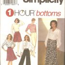 Simplicity 8677 (1993) Wide or Straight Leg Pants Shorts Four Gore Skirt  Pattern Size XS-S-M  Uncut