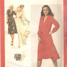Simplicity 9284 (1979) V Neck Front Tucks Tie Belt Cuffed Sleeves Dress Pattern  Size 10  Uncut
