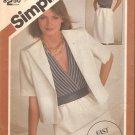Simplicity 6274 (1983) Surplice Bodice Elastic Waist Dress Jacket Pattern Size 10-12-14  Uncut