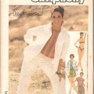 Simplicity 6893 (1985) Shirt Top Shorts Pants Bikini Pattern Size 6-8-10  Partial Cut
