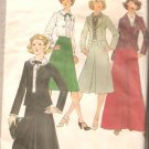 Simplicity 8246 (1977) Vintage Blouse Unlined Jacket Front Pleat Skirt Pattern Size 9 Junior Uncut