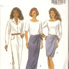 Butterick 6596 (1993) Wrap Skirt Straight Skirt Pockets Mock Fly Pattern Size 6-8-10 Cut to 10