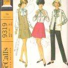 McCalls 9319 (1998) Short Sleeve Dress Back Zipper Pattern Size 6-8-10-12 Cut to 12