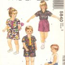 McCalls 5840 (1992) Toddlers Button Front Shirt Tank Top Shorts Pattern Size 3 Uncut