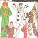 Simplicity 9806 (1990) Boys Girls Clown Costumes and Hat Pattern Sizes 2 4 6 8 10 12  Part Cut