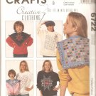 McCalls 6722 (1993) Creative Clothing Collars and Decorative Sweatshirt Fronts Pattern  Uncut