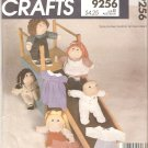 "McCalls 9256 (1984) 16"" 18"" Soft Doll Complete Wardrobe Pattern Part Cut"