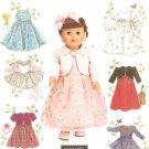 "Simplicity 4364 (2005) 18"" Doll Dress Top Skirt Leotard Tutu Jacket Pattern UNCUT"