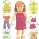 "Simplicity 4654 (2005) 18"" Doll Top Shorts Skort Pants Dress Jumper Cover-up Pattern UNCUT"